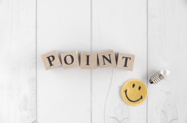 pointと書かれた積み木
